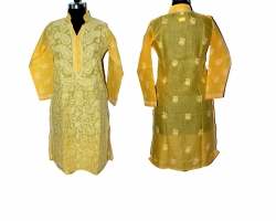 Designer Chikankari Yel...