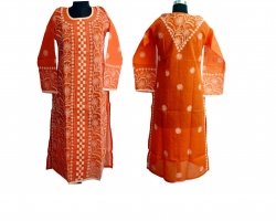 Designer Chikankari Ora...