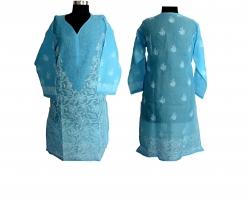 Designer Chikankari Blu...