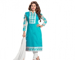 Embroidered Sky Blue Ch...