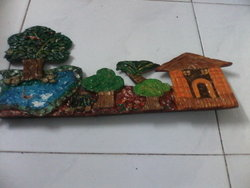 scenary key holder mural