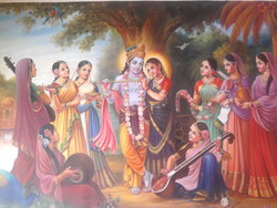 Krishna with gopikas