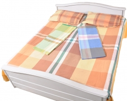 NID Checks Double Bedsheet