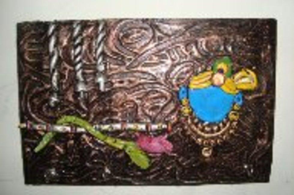 On mural key holder